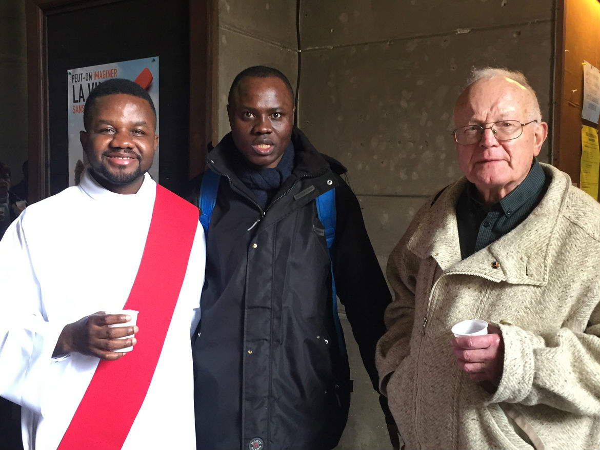 Ordination diaconale de Gilbert Julien fc le 26 février 2017 à Saint Ouen (France)