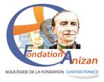 Logo de la Fondation Anizan, sous l'égide de la Fondation Caritas France