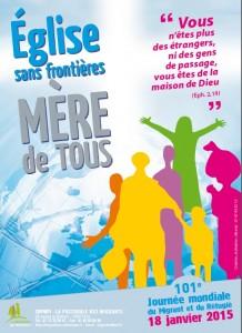 Affiche Journée Mondiale du migrant et du réfugié