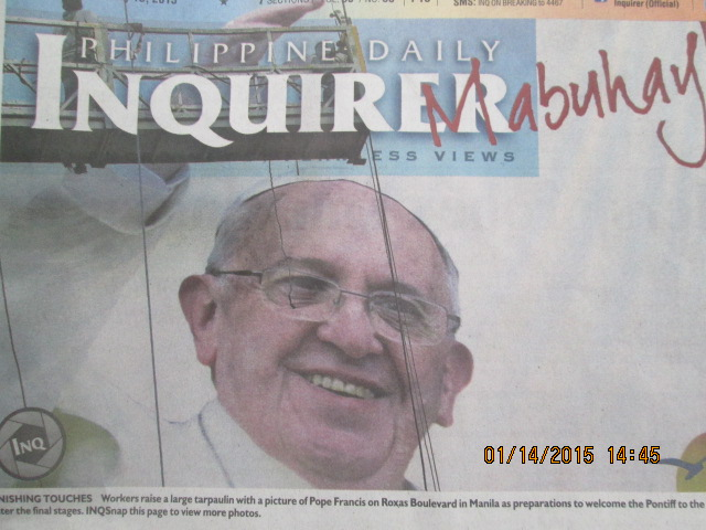Le pape François aux Philippines
