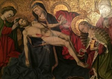 Représentation de la mise en tombeau de Jésus