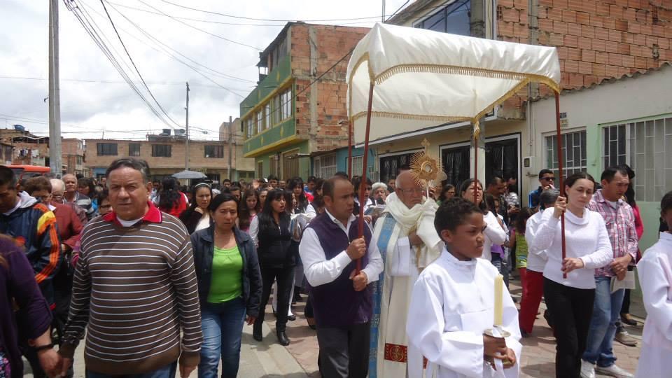Fête du Saint-Sacrement en Colombie