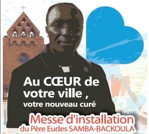 Installation d'Eudes Samba fc comme curé de Bezons le 11 octobre 2015