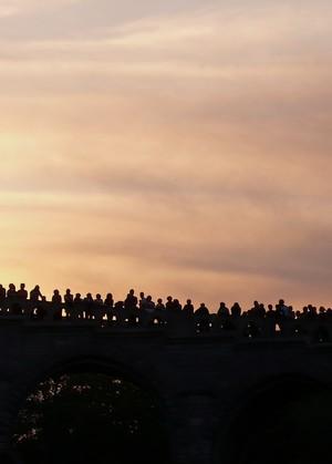 Coucher de soleil à Lourdes (Toussaint)