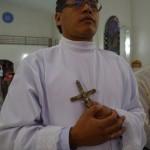 Premiers voeux religieux de Jailson dos Santos le 5 février 2013