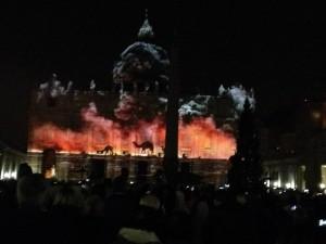 Spectacle d'images le 8 décembre 2015 à Rome