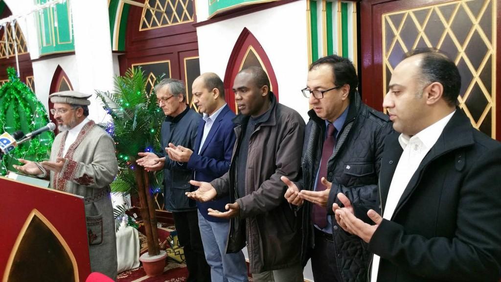 Fête de Moulid dans la communauté musulmane de La Courneuve le 22 décembre 2015