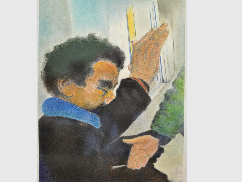 Peinture du Salut au clochard