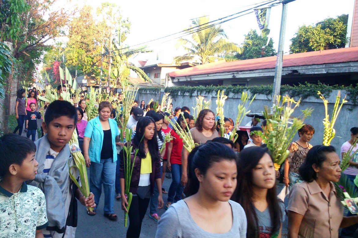 Fête des rameaux à Manille en avril 2015