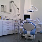 Cabinet dentaire social, chaise de dentiste