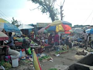 Un marché en RDC