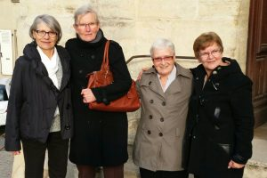 Les 4 présidentes de la Fraternité Anizan, aux obsèques de Michel Bailly fc, novembre 2015