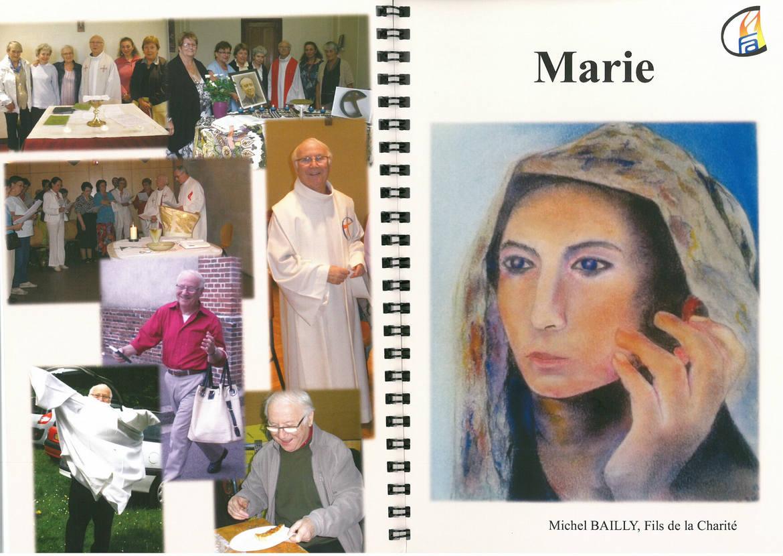 Livret sur la place de Marie vue par Michel Bailly fc, Fraternité Anizan