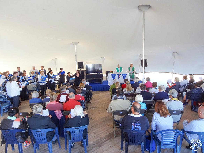Messe et stand chrétien au salon nautique du Grand Pavois à La Rochelle