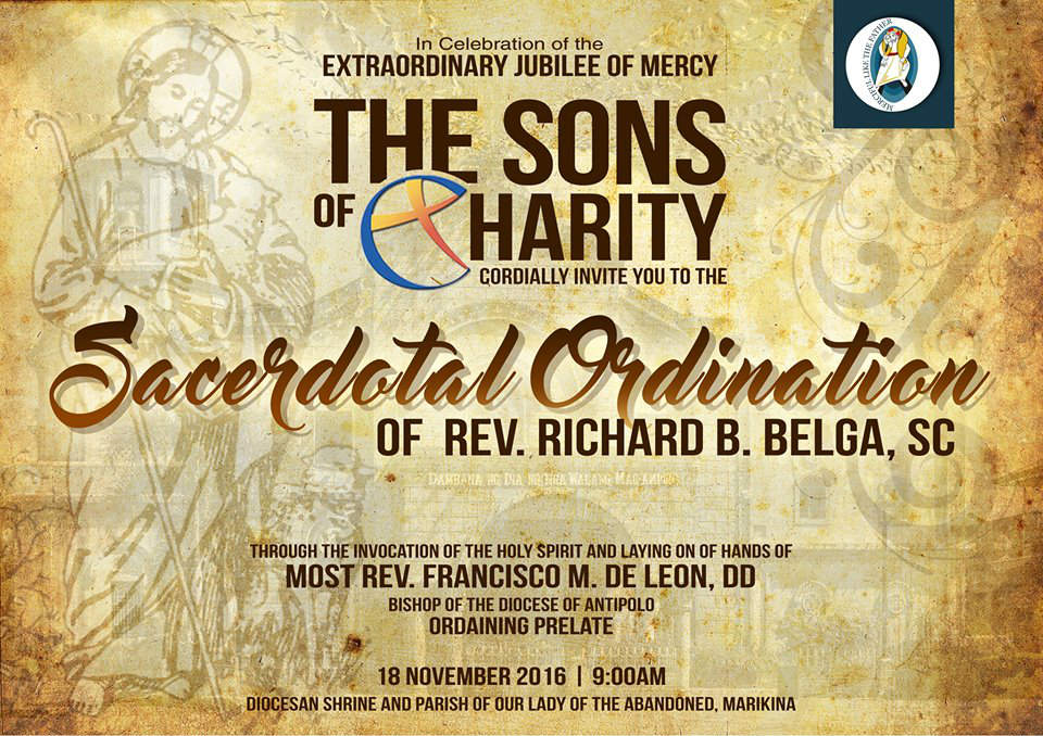 Ordination sacerdotale de Richard Belga fc le 18/11/2016