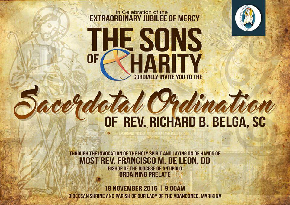 Ordination sacerdotale de Richard Belga fc le 18/11/2016
