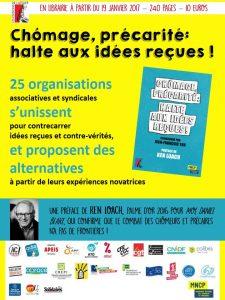 """""""Chômage, précarité : halte aux idées reçues !"""", Coordonné par Jean-Francois Yon, Les Editions de l'Atelier, 2017, 240 pages, 10 euros"""