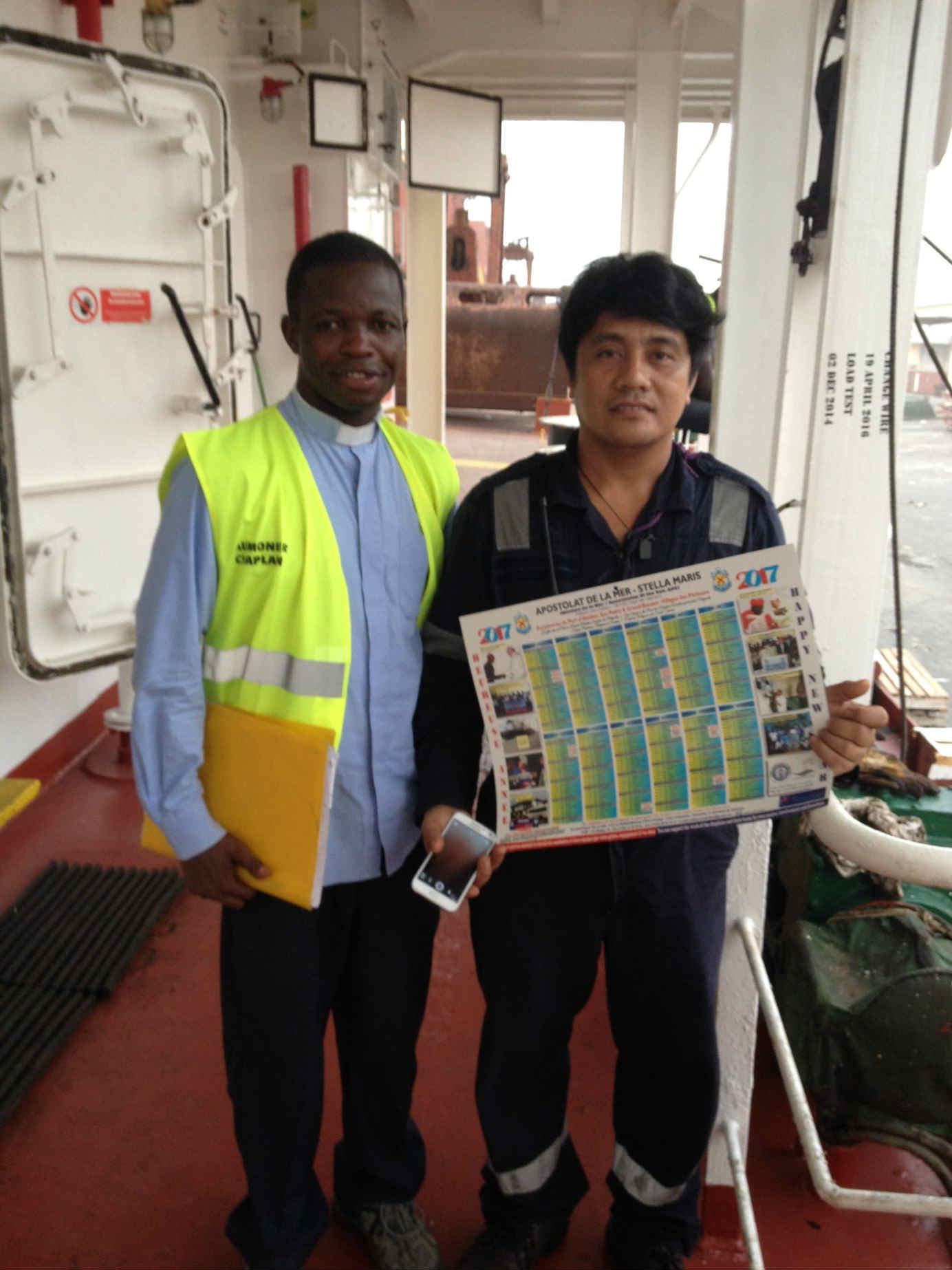 Le Calendrier 2017 de l'Apostolat de la mer en Côte d'Ivoire