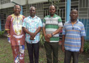 Serge Mavungu fc lors de la visite de Pierre Tritz et Emmanuel Say en avril 2016