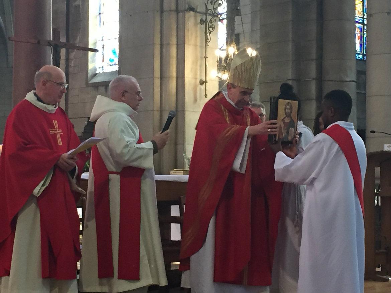 Ordination diaconale de Gilbert Julien fc le 26 février 2017 à Saint Ouen (France)