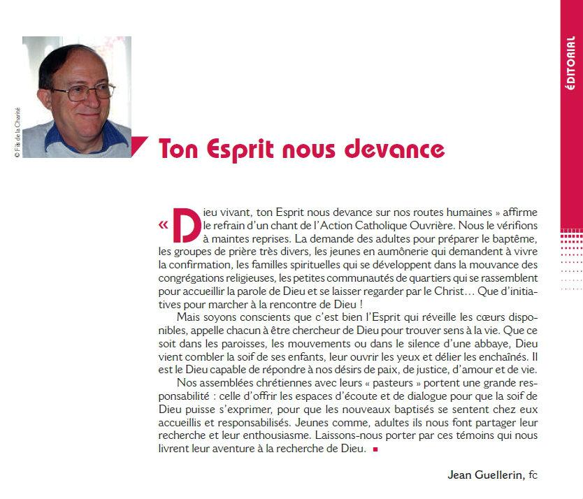 Edito de la Revue chantiers de mars 2017 / désir de Dieu