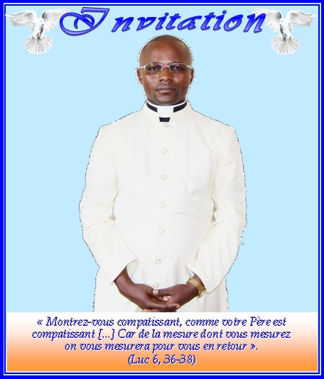 Faire-part d'ordination presbytérale de Jonas Malanda Nzouzi fc à Brazzaville le 1er juillet 2017