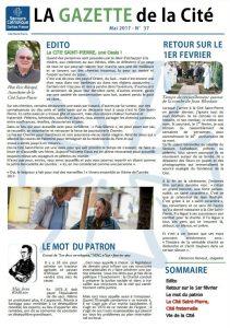 La Gazette de la Cité, mai 2017, n°37, édito