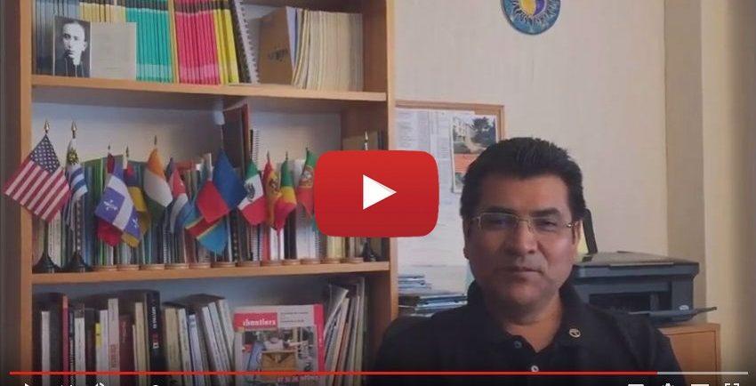 Calixto Martinez présente dans un teaser la Session internationale des formateurs de 2016.