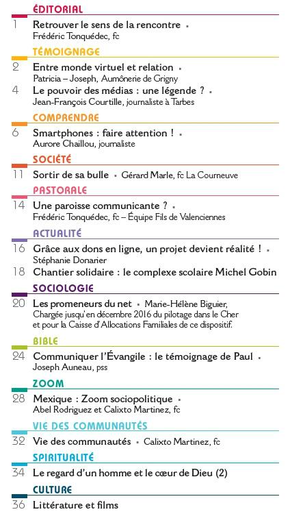 """Sommaire de la revue chantiers de septembre 2017 sur """"Vous avez un message!"""""""