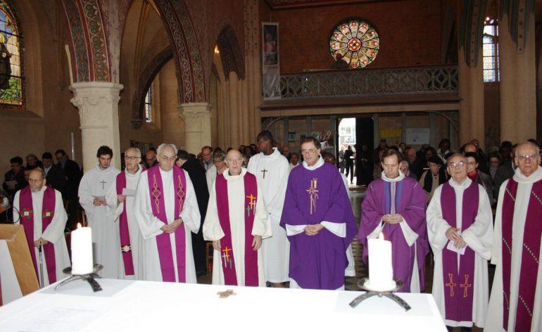 Départ des Fils de la Charité, de la paroisse Gentilly, en 2014