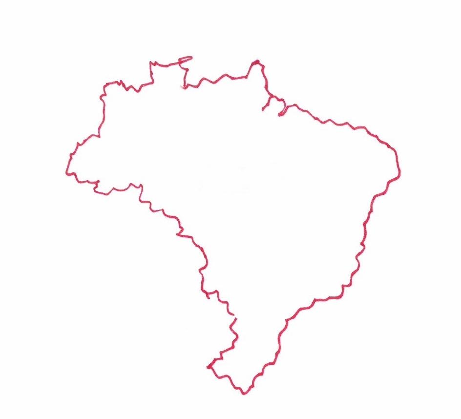Carte du Brésil © Florence Sanyas