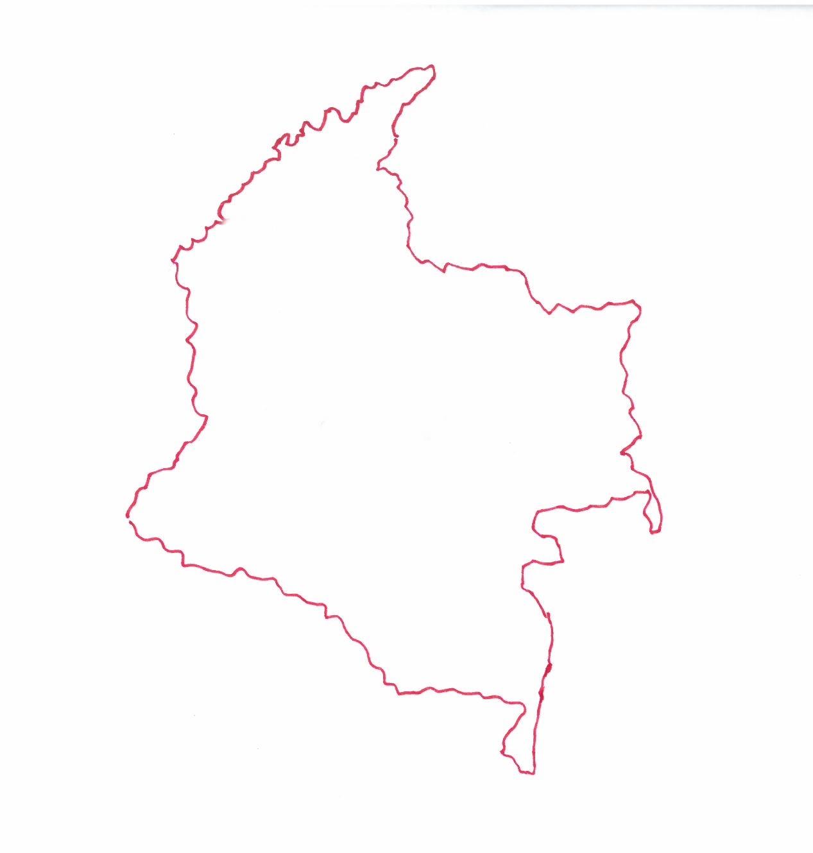 Carte de Colombie © Florence Sanyas