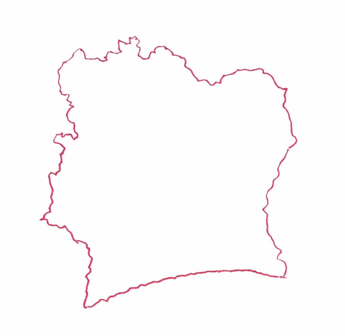 Carte de Côte d'Ivoire © Florence Sanyas