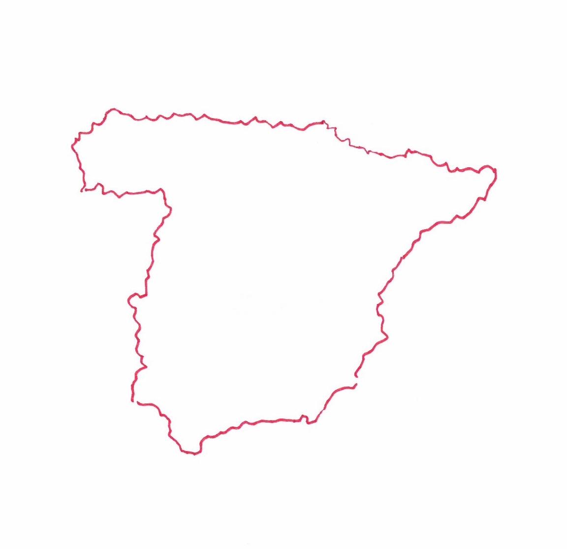 Carte d'Espagne © Florence Sanyas