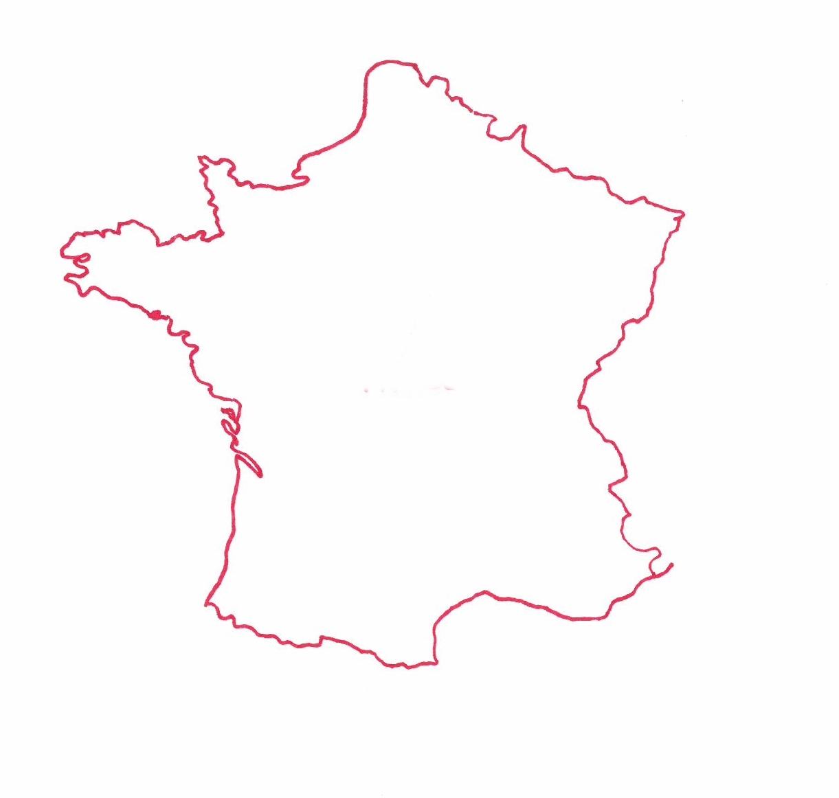 Carte de France © Florence Sanyas