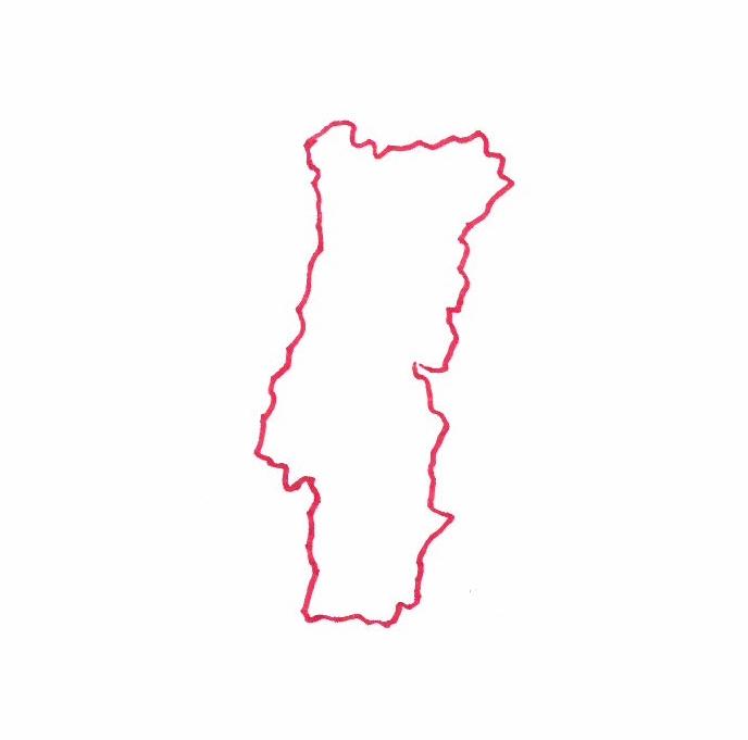 Carte du Portugal © Florence Sanyas