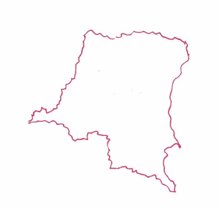 Carte de la République Démocratique du Congo © Florence Sanyas