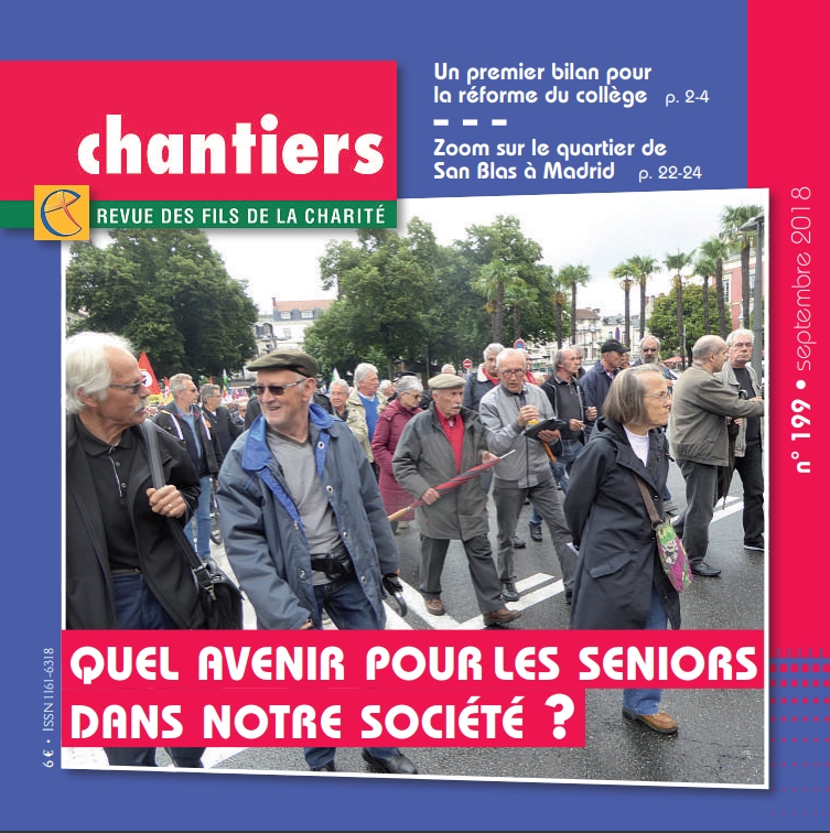 Couverture de la revue chantiers de septembre 2018 n°199 © Fils de la Charité