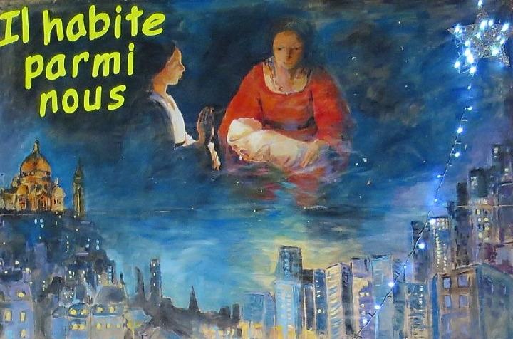 Visuel crèche de la paroisse sainte Hélène pour le 16 décembre 2018