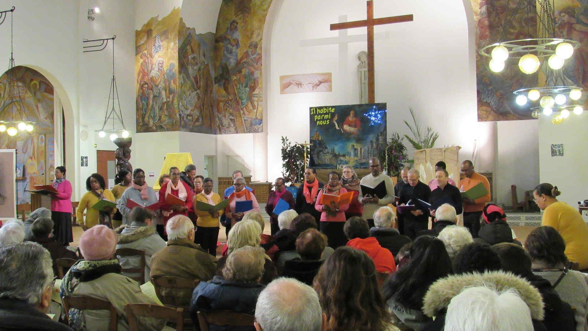Chorale de Saint-Ouen Arc-en-ciel, décembre 2018, crédit Nicole Domergue