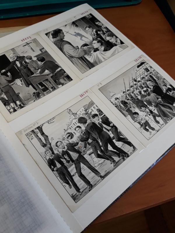 BD écrite par le Père Gaston Courtois et dessinée par Robert Rigot. Publiée aux éditions Fleurus en 1952,