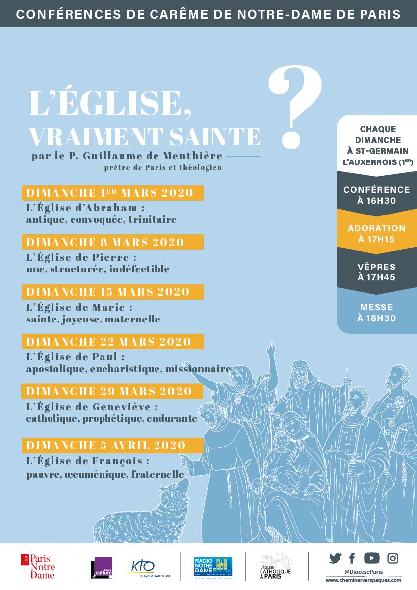 Conférence de carême de Notre-Dame de Paris 2020