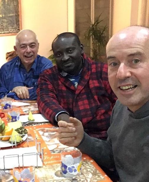 Francisco Ortiz, Alain Paul N'Guesso, Michel Franco, février 2020, Italie