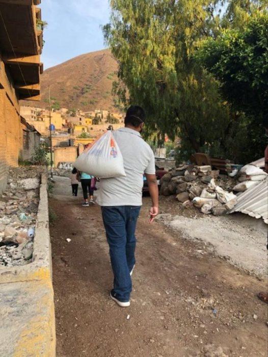 Solidarité alimentaire suite au Covid-19 au Mexique le 6 avril 2020