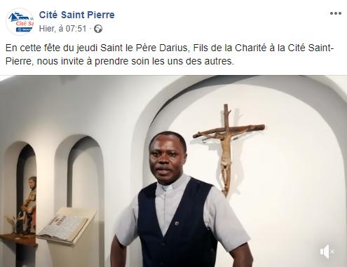 Jeudi Saint 2020 vidéo de Darius Simanzondo fc à Lourdes