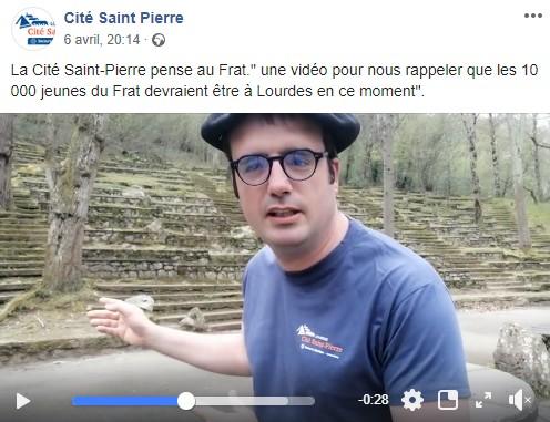 Annulation du Frat à Lourdes 2020