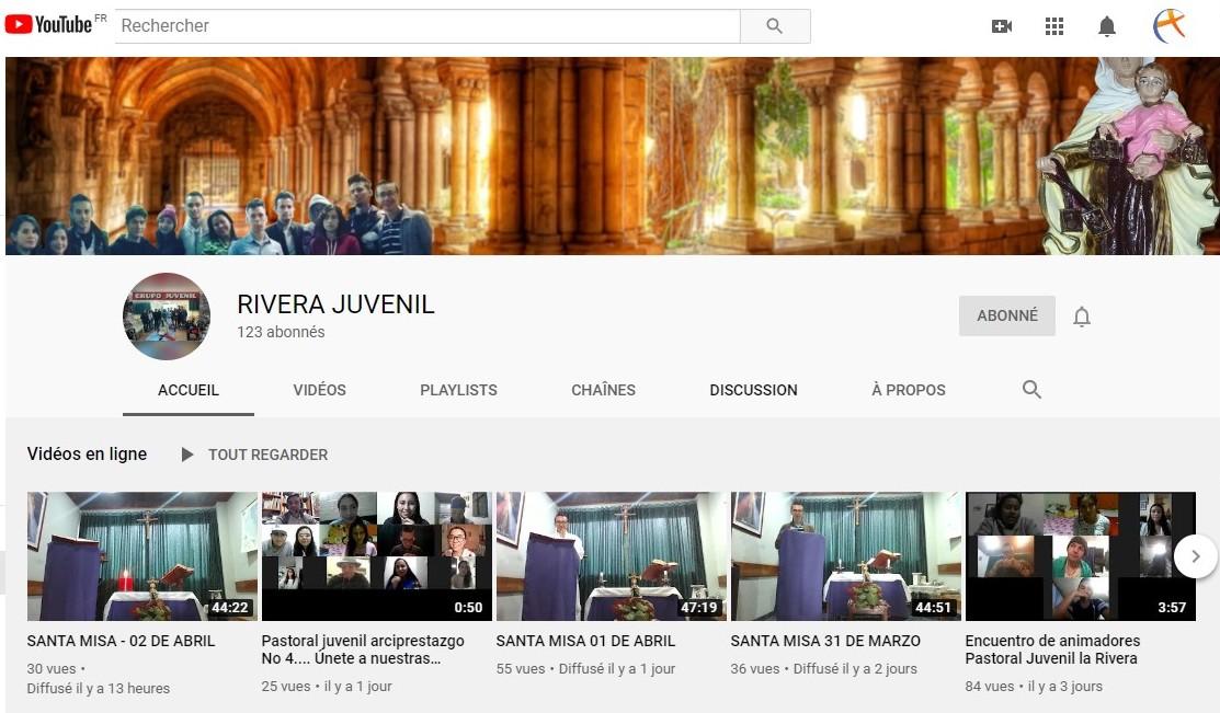 Chaîne youtube Parroquia Santa María de la Rivera Juvenil