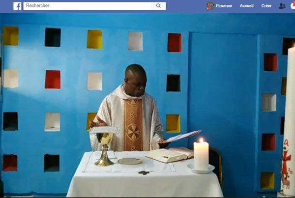 Messe diffusée sur Facebook pendant le confinement à la Paroisse Saint Antoine du Port