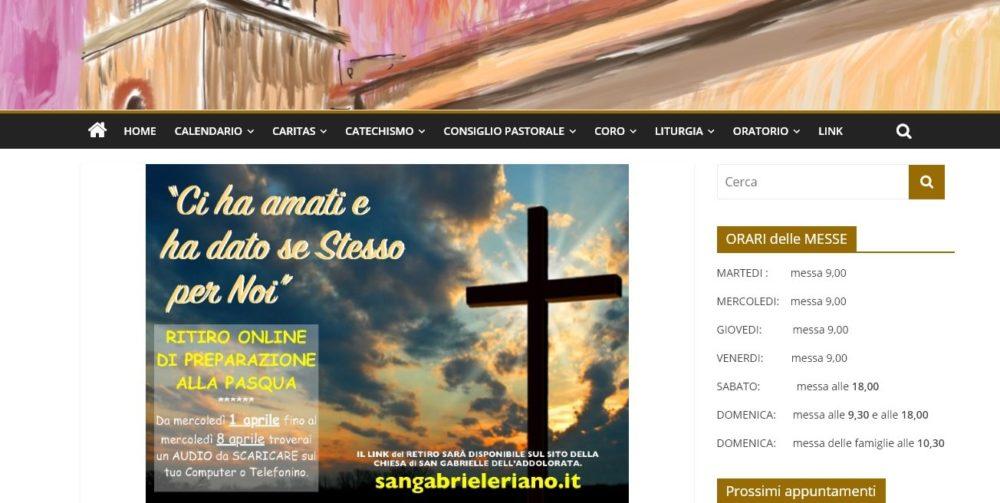 Nouveau site internet à Riano Semaine Sainte 2020