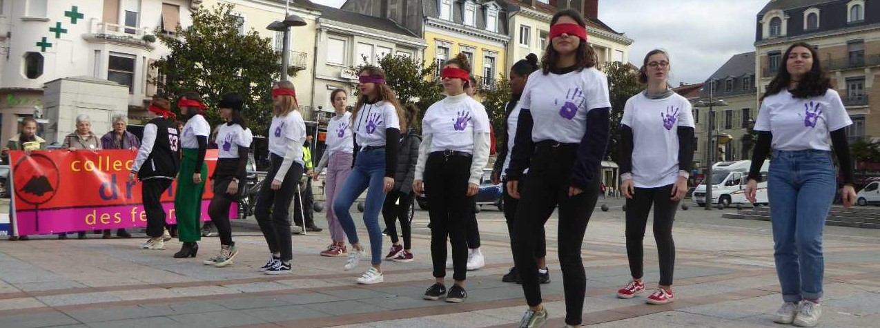 A Tarbes les jeunes se mobilisent contre les violences faites aux femmes